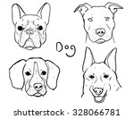 dog drawing  american french... | Shutterstock .eps vector #328066781