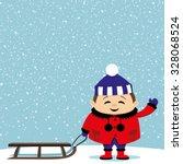 vector illustration. child and... | Shutterstock .eps vector #328068524