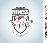 man and woman fitness logo... | Shutterstock .eps vector #328070897