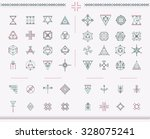 set of geometric shapes. trendy ... | Shutterstock .eps vector #328075241