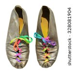 silver ladies shoes with... | Shutterstock . vector #328081904
