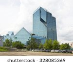 moscow   may 25  2013  building ... | Shutterstock . vector #328085369