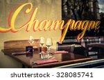 paris restaurant with champagne ... | Shutterstock . vector #328085741