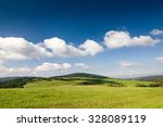 amazing summer countryside with ... | Shutterstock . vector #328089119