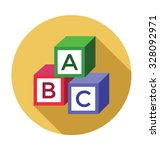 educational blocks  | Shutterstock .eps vector #328092971