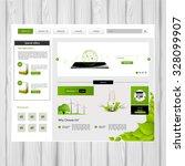 minimalistic eco green website...
