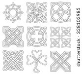 collection of celtic knots for... | Shutterstock .eps vector #328102985