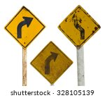 Isolate Sign Three Traffic Tur...