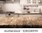 Stock photo retro cream kitchen space 328106954