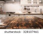 blurred background of kitchen... | Shutterstock . vector #328107461