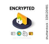 encrypted icon  vector symbol...