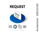 request icon  vector symbol in...