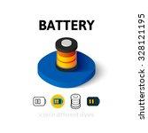battery icon  vector symbol in...