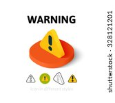 warning icon  vector symbol in... | Shutterstock .eps vector #328121201