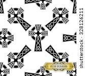 vector celtic cross seamless   Shutterstock .eps vector #328126211