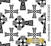 vector celtic cross seamless   Shutterstock .eps vector #328126265