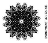 beautiful deco black mandala ...   Shutterstock . vector #328128581
