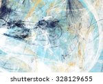 Abstract Beautiful Blue And...