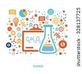 science concept design on white ... | Shutterstock .eps vector #328137725