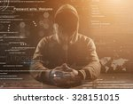 hacker at work with graphic...   Shutterstock . vector #328151015