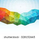 abstract geometric background... | Shutterstock .eps vector #328152665