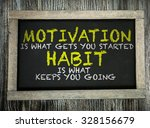 motivation is what gets you... | Shutterstock . vector #328156679