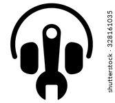 headphones tools vector icon.... | Shutterstock .eps vector #328161035
