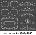 set of decorative frames and...