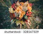 autumn bouquet of yellow and... | Shutterstock . vector #328167329