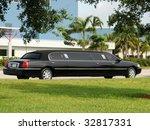luxury black limousine awaiting ... | Shutterstock . vector #32817331