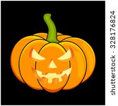 halloween pumpkin vector... | Shutterstock .eps vector #328176824
