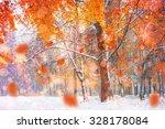 sunlight breaks through the... | Shutterstock . vector #328178084