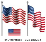 set of american flags with the... | Shutterstock .eps vector #328180235