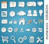 set of universal web icons... | Shutterstock .eps vector #328180241