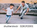 family bike tours double   Shutterstock . vector #328192001