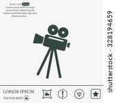 video camera icon vector | Shutterstock .eps vector #328194659