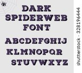 dark spiderweb alphabet.... | Shutterstock .eps vector #328196444