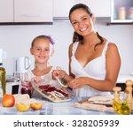 portrait of happy young woman... | Shutterstock . vector #328205939