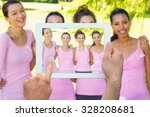 hand holding tablet pc against... | Shutterstock . vector #328208681