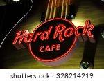 las vegas    hard rock cafe  as ... | Shutterstock . vector #328214219