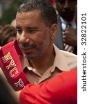 NEW YORK - JUNE 28: NY state governor David Paterson attends pride parade on June 28 2009 in New York City. - stock photo