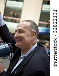 NEW YORK - JUNE 28: US Senator Charles Chuck Schumer attends pride parade on June 28 2009 in New York City. - stock photo