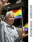 NEW YORK - JUNE 28: Mark J. Green former New York City Public Advocate attends pride parade on June 28 2009 in New York City. - stock photo