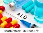 als   diagnosis written on a... | Shutterstock . vector #328236779
