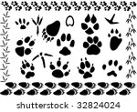 set of different animal and... | Shutterstock . vector #32824024