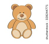 brown teddy bear isolate on... | Shutterstock .eps vector #328244771