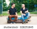 Skateboarder Friends Portrait...