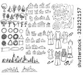 doodle of cityscape vector... | Shutterstock .eps vector #328252157