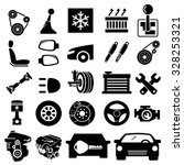 car parts icons vector | Shutterstock .eps vector #328253321