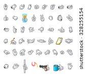 set of hands gesture cartoon...   Shutterstock .eps vector #328255154
